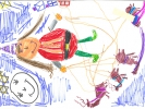Arianah Cooke, Mrs Claus and her reindeer, age 6