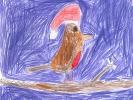 Grace Hall, Christmas Robin on Skye, age 6