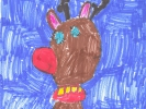 Lachlan MacLeod, Red Nose Rudolph at Night, age 6