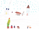 Poppy, Rudolph in the Snow, age 8