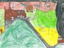 Seumas MacDonald, Santa over Torlum School, age 7