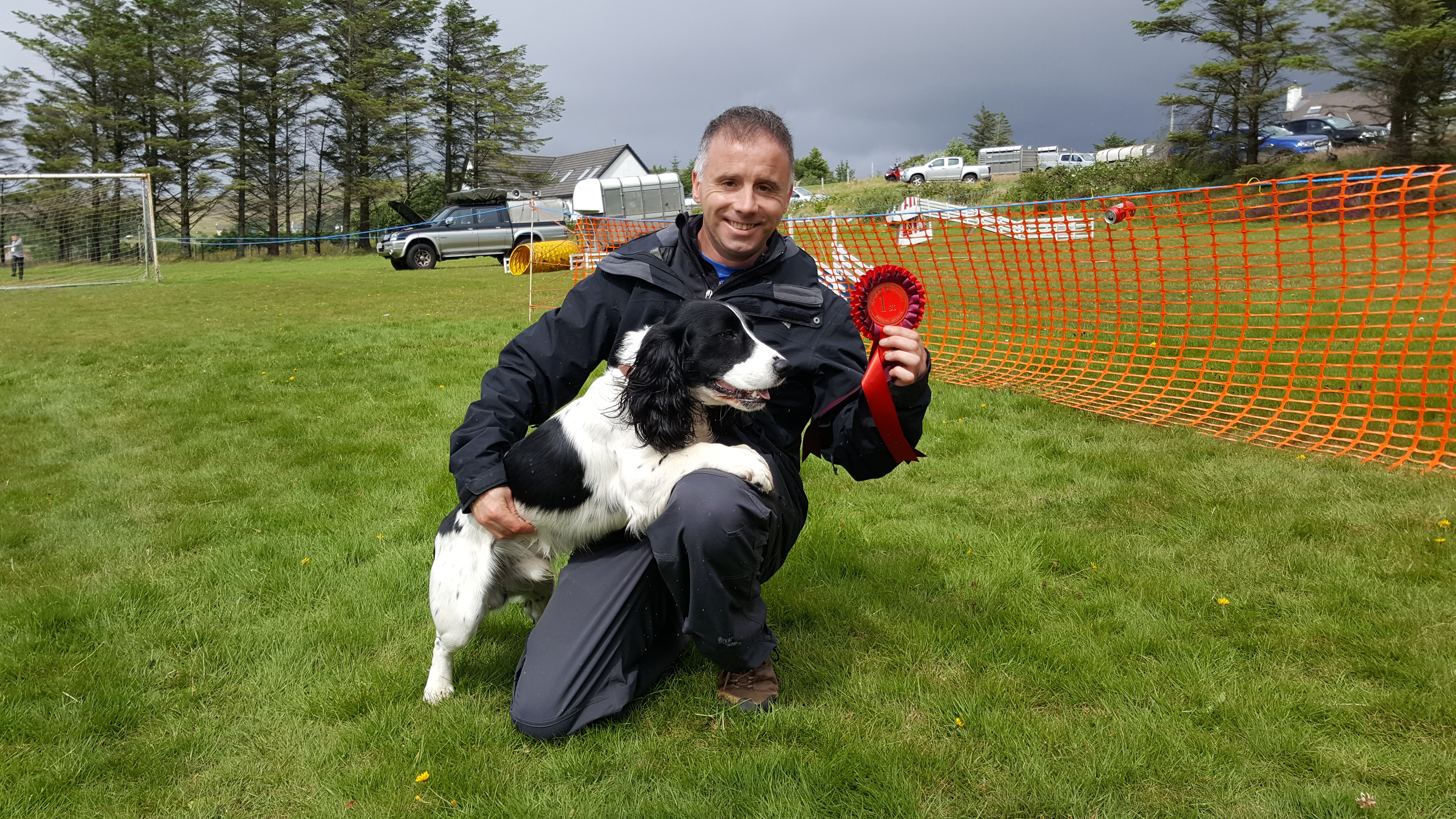 Mac - winner of best condition - pictured with handler Lorne Graham