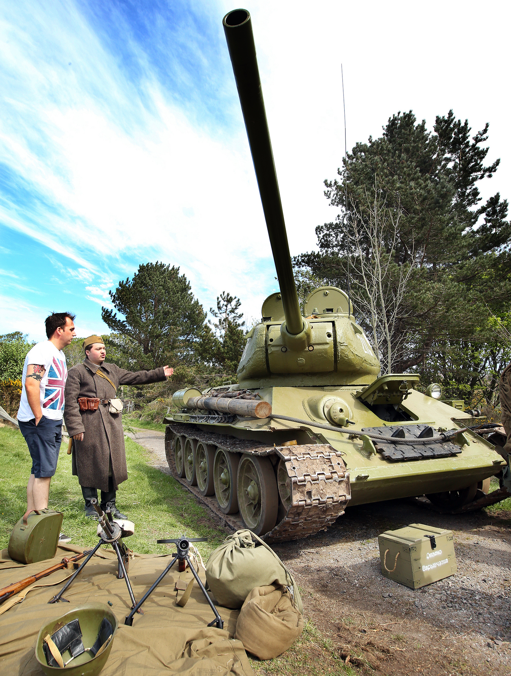 A T-34 Russian tank was one of the popular attractions at Poolewe.