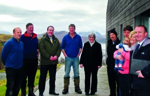 Paul Wheelhouse, Minister for Crofting, meets Raasay crofters earlier this year