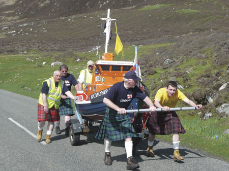 The team during their walk from Stornoway to Leverburgh