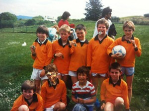 A Sleat school football team from the 1980s