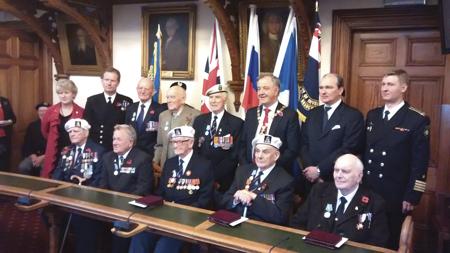 Russia's highest naval honour for convoy veterans