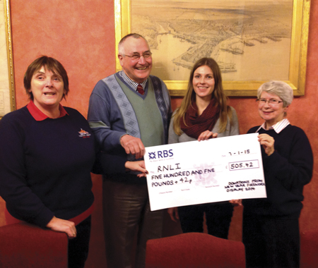 Hogmanay collection raises £505 for Stornoway RNLI Lifeboat