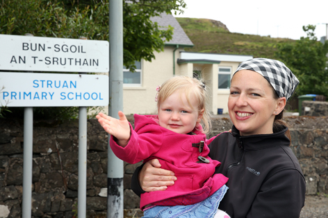 Clair and Olivia Stones are looking forward to the start of the new school term