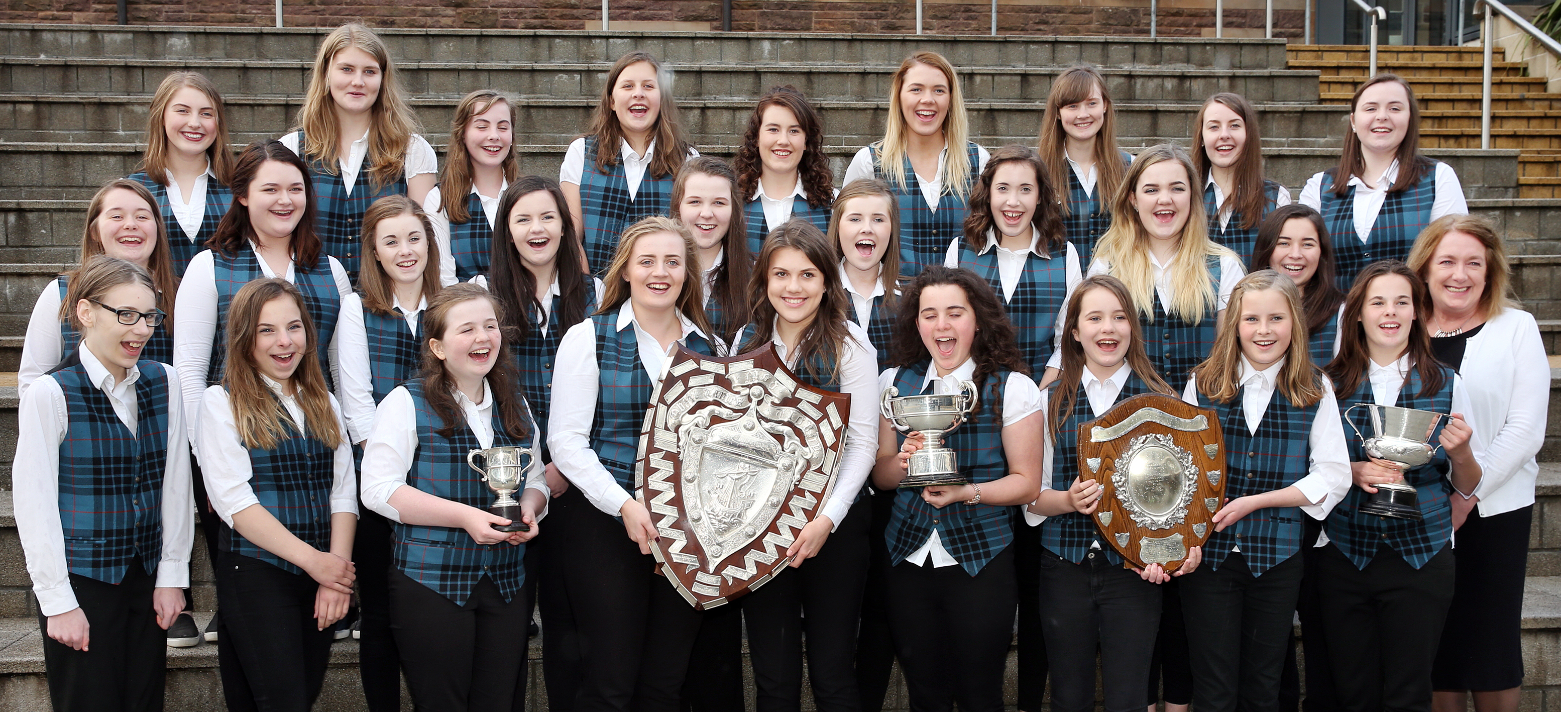 Sgoil MhicNeacail swept the boards in the senior choir events on Tuesday.