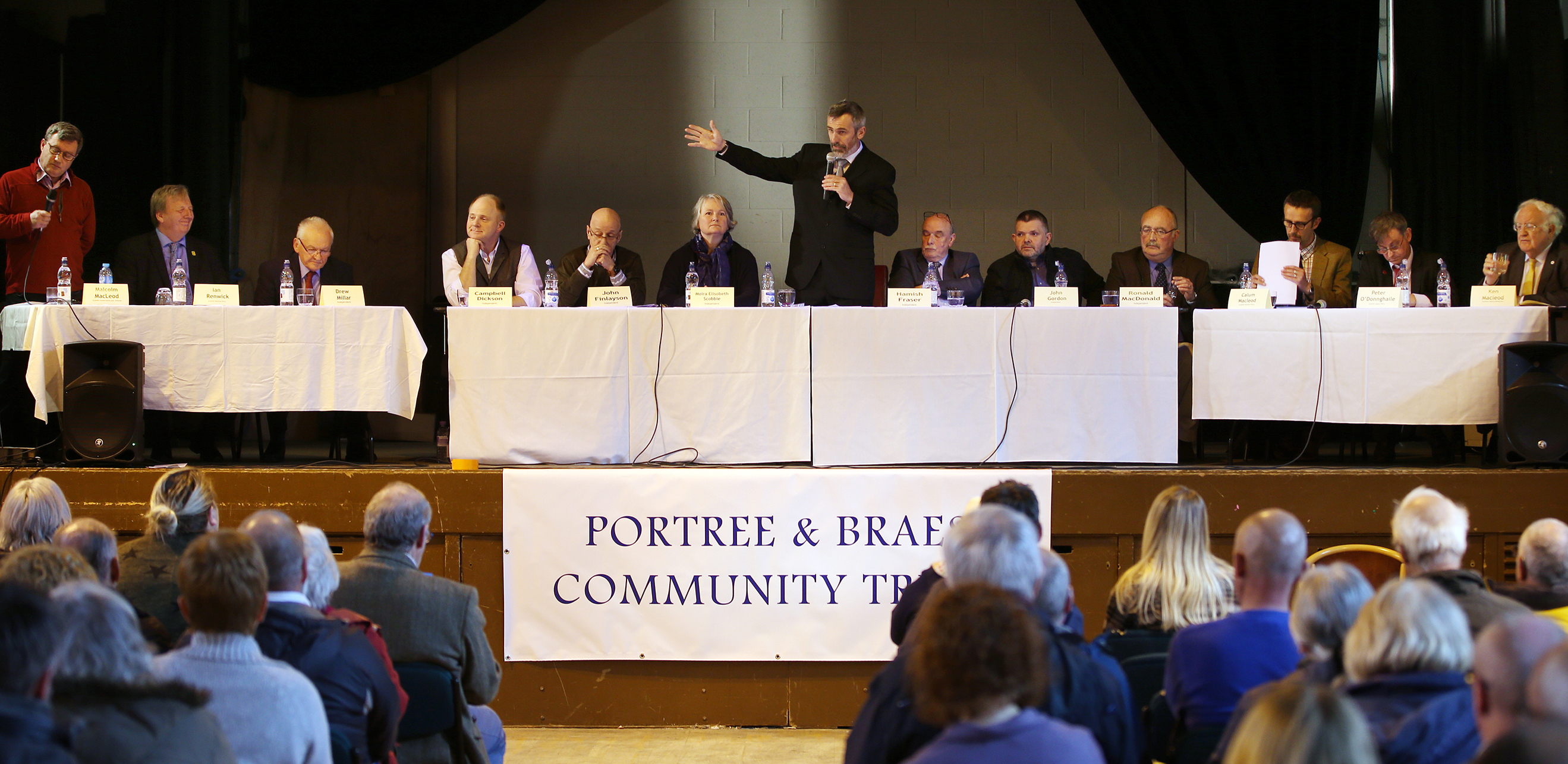 The candidates at a recent hustings event in Portree