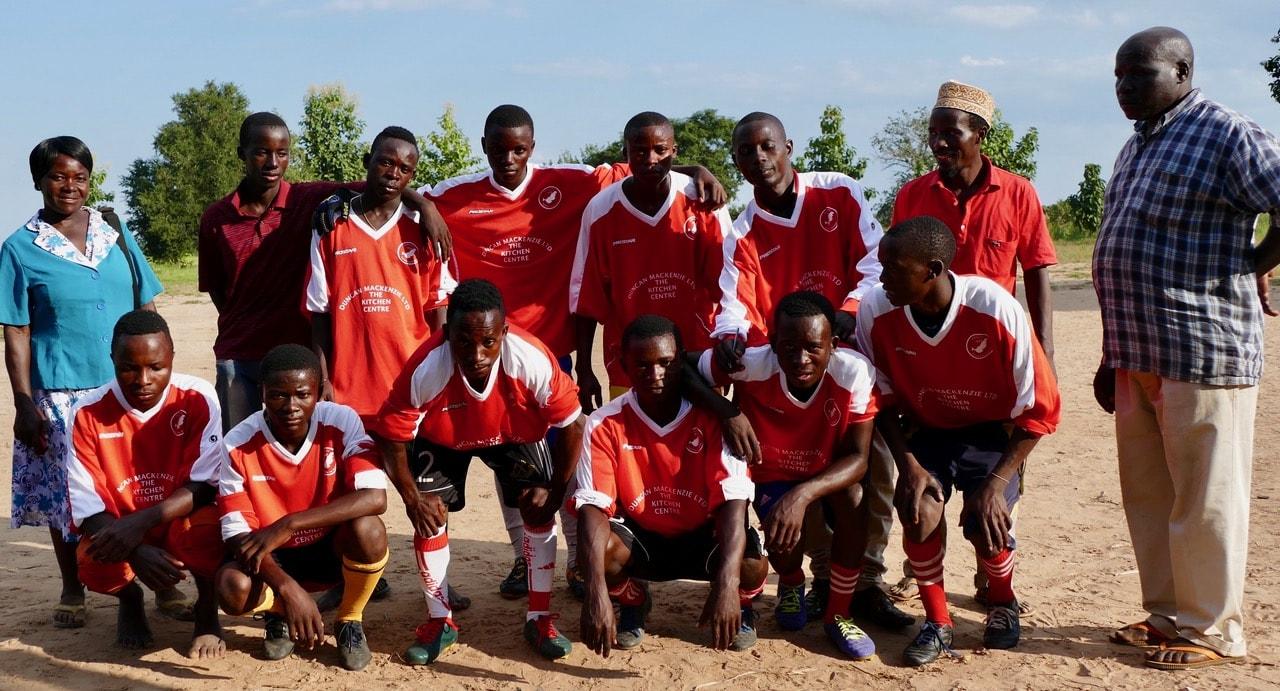 Kiogosi FC in the old Point strips sponsored by Duncan Mackenzie Kitchen Centre
