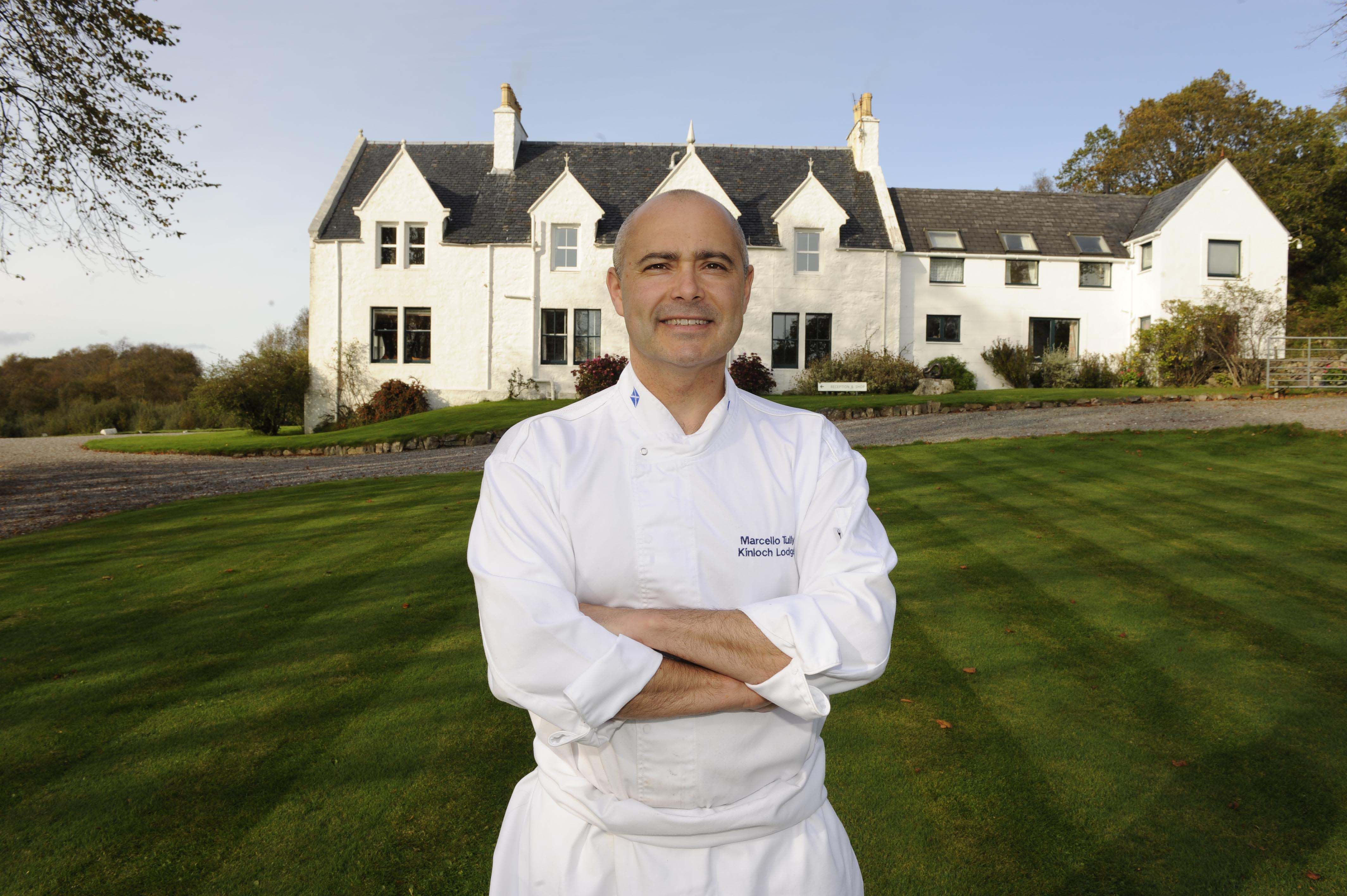 Marcello Tully outside Kinloch Lodge