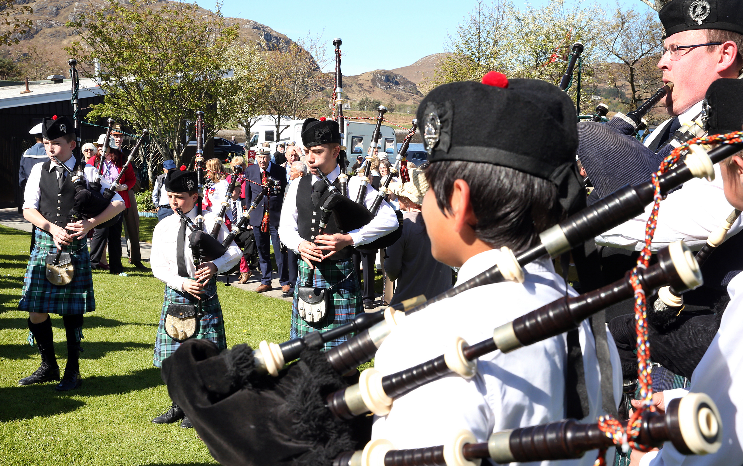 The Gairloch and district pipe band entertained the large crowd throughout the weekend.
