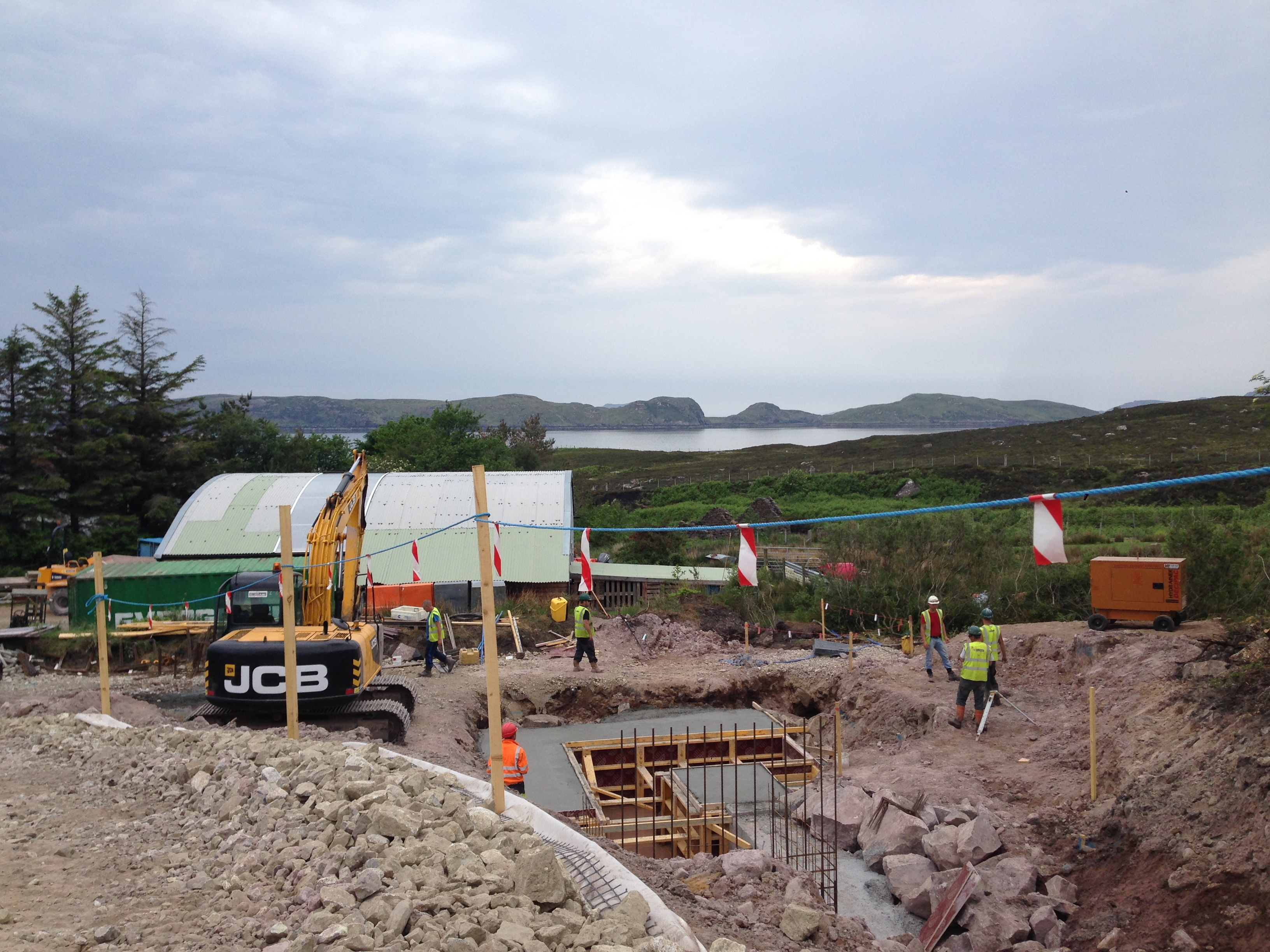 Work underway at the hydro scheme at Acheinver