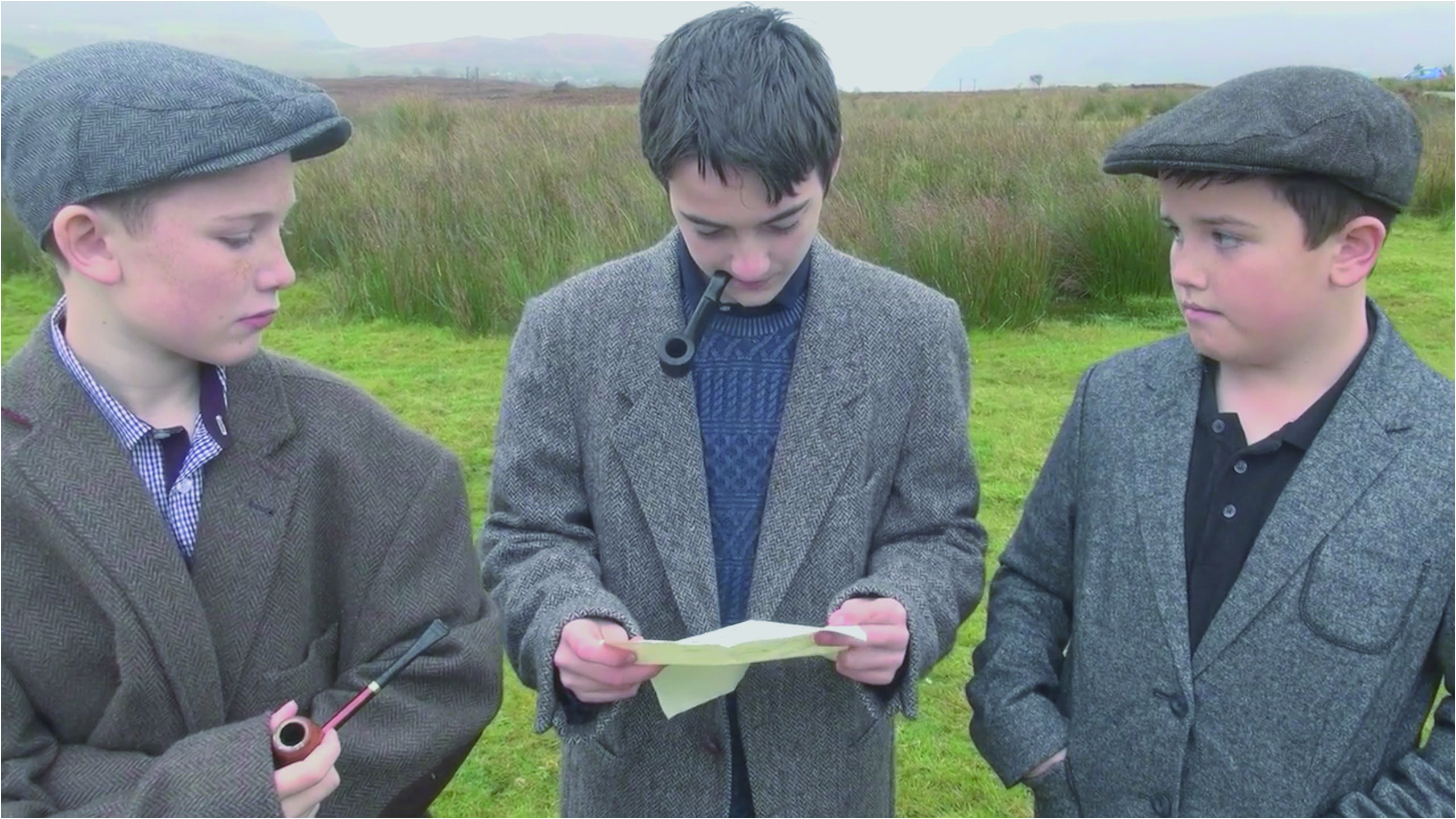 Ewen Jeffrey, Seumas Tinney and Josh MacPherson in a scene from the Portree High School's entry
