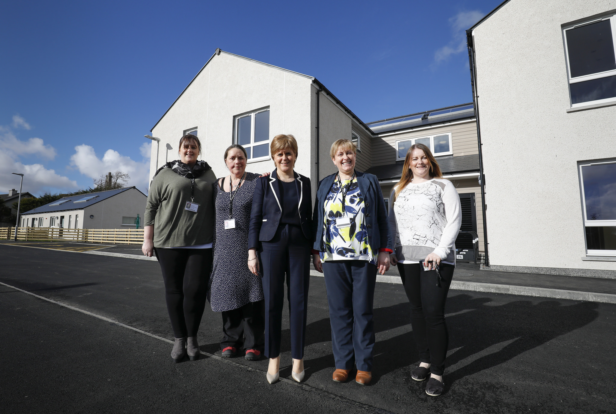 Nicola Sturgeon visited the Ardseileach Centre in Stornoway to meet staff and service users
