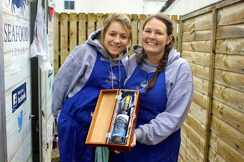 Fenella and Kirsty from the Seafood Shack with their prize