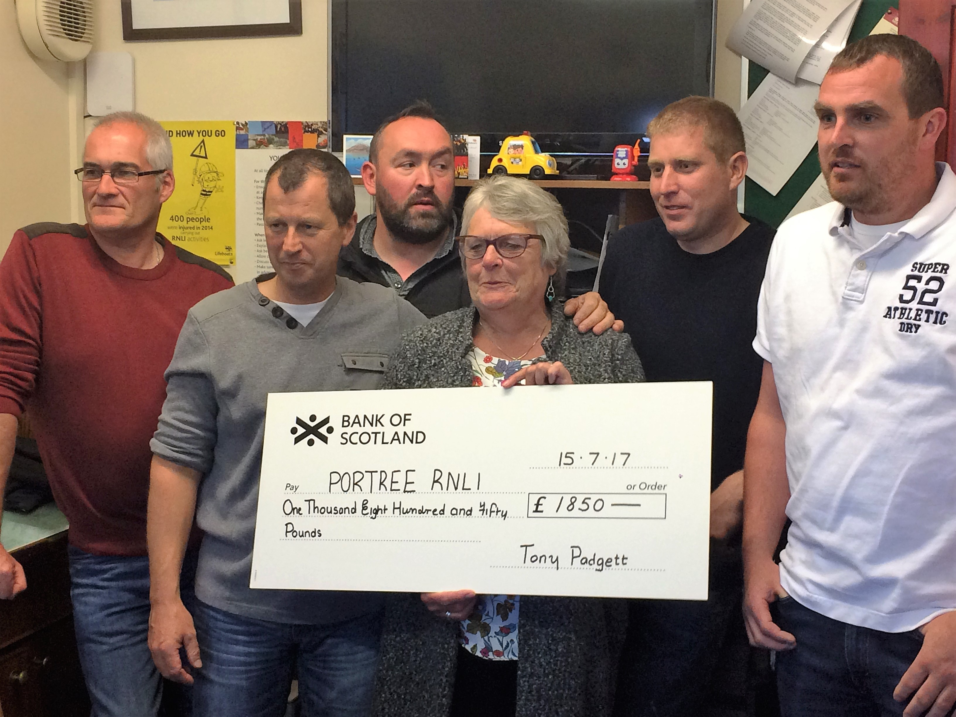 portree rnli cheque